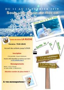 affiche vacances hiver 2019